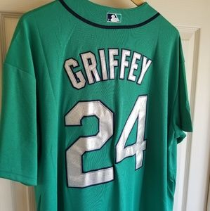 KEN GRIFFEY JR SEATTLE MARINERS THROWBACK JERSEY